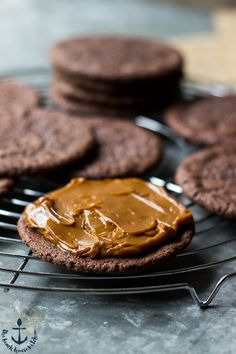 MEXICAN CHOCOLATE COOKIE with DULCE DE LECHE FILLING [thebeachhousekitchen]