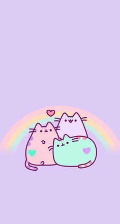 Image uploaded by ★Mαяvєℓσus Gιяℓ★. Find images and videos about wallpaper, pusheen and kawaii on We Heart It - the app to get lost in what you love. Unicornios Wallpaper, Kawaii Wallpaper, Pastel Wallpaper, Wallpaper Iphone Cute, Cartoon Wallpaper, Cute Wallpapers, Wallpaper Backgrounds, Phone Backgrounds, Iphone Wallpapers