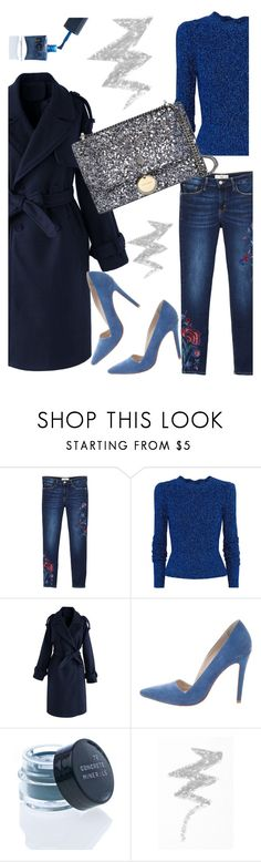 """""""Blue Power"""" by lustydame ❤ liked on Polyvore featuring MANGO, Isabel Marant, Chicwish, Alice + Olivia, NYX and Jimmy Choo"""