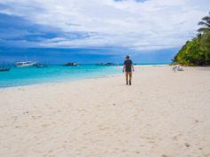 The main beach on Fulidhoo, Maldives