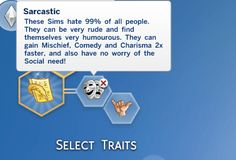 Sarcastic Trait by SullyGaming at Mod The Sims • Sims 4 Updates