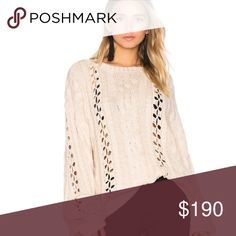 For Love and Lemons Bell Sleeve Sweater Worn twice. Such a beautiful sweater. $190 on merc For Love and Lemons Sweaters