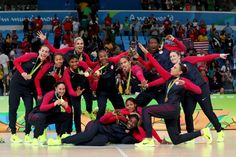 BASKETBALL GOLD FOR USA!! Team USA rout Team Spain For SIXTH Women's Basketball GOLD In A Row! ... Staking its claim to rank among the greatest women's basketball teams ever assembled, the United States captured a 6th consecutive Olympic GOLD medal and 8th in 9 Olympics… 8/20/16