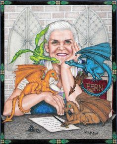 Anne McCaffrey - She was I believe the first writer I ever read a series of dragon books on and it cemented my love of dragons.