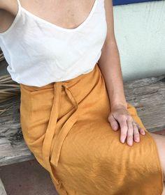 PREORDER - wrap skirt - turmeric