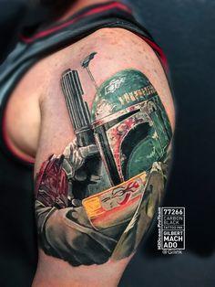 Girl with tattoo, tattoos, tattoo, black rose, H20cean, black and gray, Star Wars licensed artist, storm trooper, death Vader, boba fett