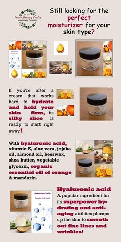 hyaluronic acid#organic essential oil of orange#firm skin#smooths lines#no wrinkles#ultra hydrating#prfect moisturizer#aloe vera#jojoba oil#