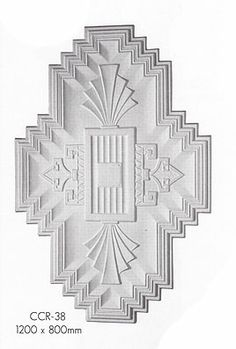 Art Deco ceiling rose