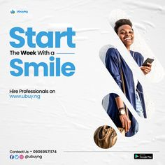 Put a smile on your face this week Graphic Design Lessons, Church Graphic Design, Graphic Design Brochure, Graphic Design Posters, Creative Poster Design, Ads Creative, Creative Posters, Pag Web, Flyer Design Inspiration