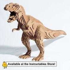 Laser Cut Cardboard Model of a T-Rex Head from Epilog ...