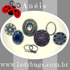 Somos anéis poderosos  e acabamos de chegar na Ladybug's! Venha nos dar as boas vindas http://www.ladybugs.com.br Anel, Maxi Anel, Falange