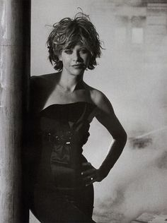 Meg Ryan by Peter Lindbergh, 2004. Before she inflated her lips to 50 psi.