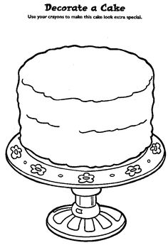 Coloring book:  design your own birthday cake!