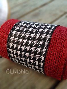 University of Alabama houndstooth burlap ribbon for crafts roll tide on Etsy, $5.50