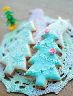 Mooie kerstboom koekjes