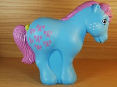 vintage My Little Pony G1 money bank UK bow tie collector pose 1980' with box | eBay