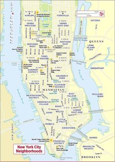 Map of New York City Attractions PlanetWare Pennsylvania and