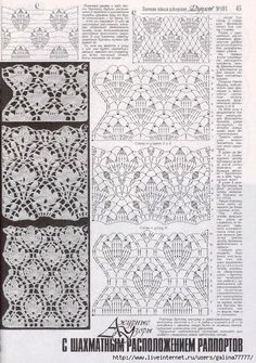 "Photo from album ""Дуплет 181 on Yandex. Crochet Diagram, Crochet Chart, Filet Crochet, Crochet Motif, Irish Crochet, Crochet Doilies, Knit Crochet, Crochet Stitches Patterns, Lace Patterns"