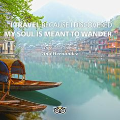 Those who wander are not always lost. Why do YOU travel?