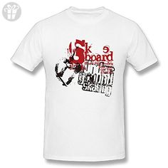 White Short Sleeves Mens Tee, Skateboard Cotton O Neck Casual Funny Shirts - Funny shirts (*Amazon Partner-Link)