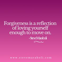 Working on forgiving you.
