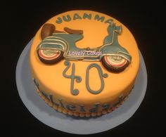 Tarta Vespa en relieve