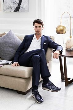 """You've got to admit, though, for the modern man a baby is the latest accessory."" Matthew Goode new spokesperson for Hogan."