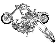 custom motorcycle coloring page - Bing images