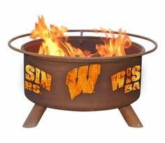 University of Wisconsin Badgers Metal Fire Pit