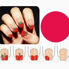 Apple nail tutorial