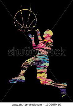 stock vector : basketball