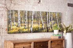 Kalalou Oil Painting - Set Of 3 Birch - Kalalou Oil Painting - Set Of 3 Birch is a painting of slender hardy trees which has thin peeling barks. This Kalalou oil painting comes in a set of three. These birch paintings can be used to embellish the wall collectively or you can place them in different locations of your home as per your choice.