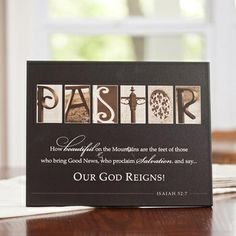 Pastor - Textured Mounted Print A Wonderful Gift for your Pastor!