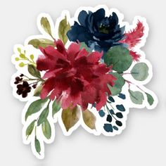 Get your hands on great customizable Floral stickers from Zazzle. Anime Stickers, Tumblr Stickers, Cute Stickers, Printable Stickers, Planner Stickers, Free Watercolor Flowers, Baby Gift Wrapping, Watercolor Stickers, Hand Drawn Flowers