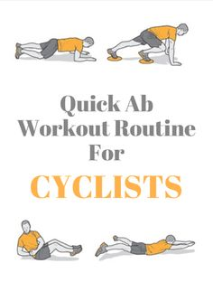 Quick Ab Workout Routine for Cyclists Quick Ab Workout, Abs Workout Routines, Cycling Bikes, Road Cycling, Swimming Tips, Swimming Workouts, Easy Abs, Spin Bike Workouts, Core Work