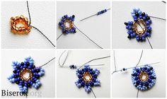 Комплект серьги-круги + браслет / Браслеты, Серьги / Biserok.org