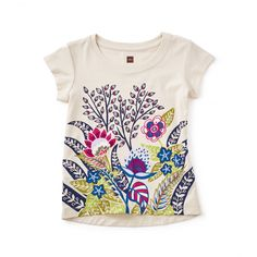 Serengeti Floral Graphic Tee: This fabulous floral design is inspired by the colorful plant life of South Africa and the wild and whimsical style of South African crafters Ardmore Ceramic Art, who make pottery with a nod to nature.