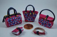 •• Miniaturas bolsos: Bolsos combinados