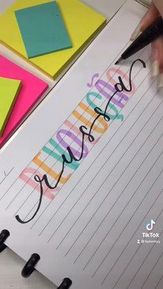 Bullet Journal Travel, Bullet Journal Notes, Bullet Journal Writing, Bullet Journal School, Bullet Journal Themes, Bullet Journal Inspiration, Creative Lettering, Graffiti Lettering, Chalkboard Lettering