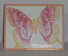 Simply Sara Stampin': Sparkling Swallowtails