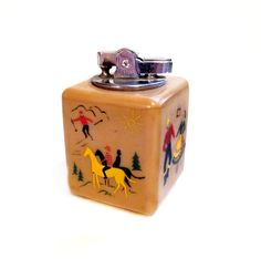 Vintage Heavy Plastic Table Lighter by Fisher Flair