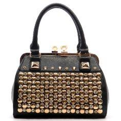 Designer inspired handbag Faux leather Push-lock closure Gold-tone hardware Detachable shoulder strap L 11 * W 7.5 * H 5.5 (4.5 D)
