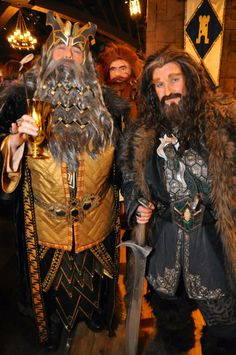 Thror and Thorin...more here: http://tankhera.tumblr.com/post/75747735670/family-and-feels-dis