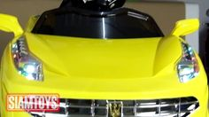 SIAMTOYS - รถเด็ก รุ่น 3733 ทรงเฟอรารี่ (สีเหลือง) - Line id : @siamtoys...