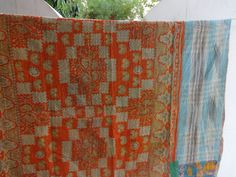 Reversible Kantha QuiltVintage Kantha by IndianHomeTextile on Etsy, $39.99