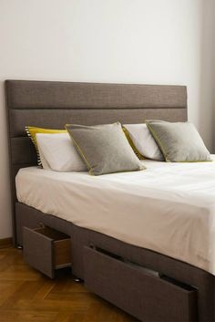 Tokyo bed in Slate from Cotton&Co - Grey on Grey