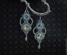 Russian rivoli earrings