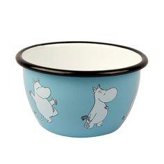 Moomin Retro Enamel Bowl – Moomintroll   The Moomin Shop
