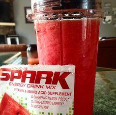 Spark recipes. Watermelon Slushie with fresh watermelon chunks  http://www.advocare.com/140384925