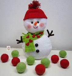 ♥♥♥ Boneco de neve... by sweetfelt  ideias em feltro